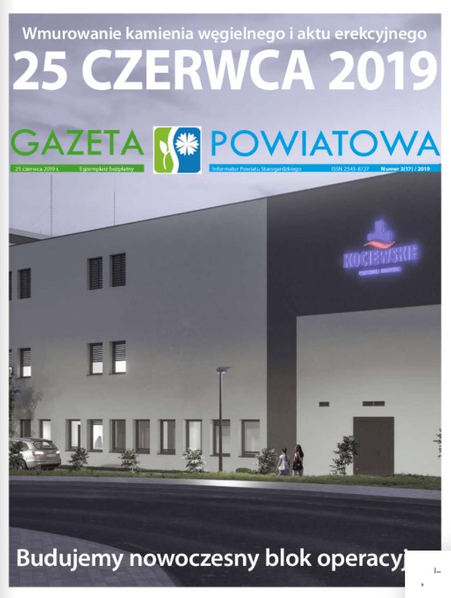 Okładka gazety powiatowej z czerwca 2019r.