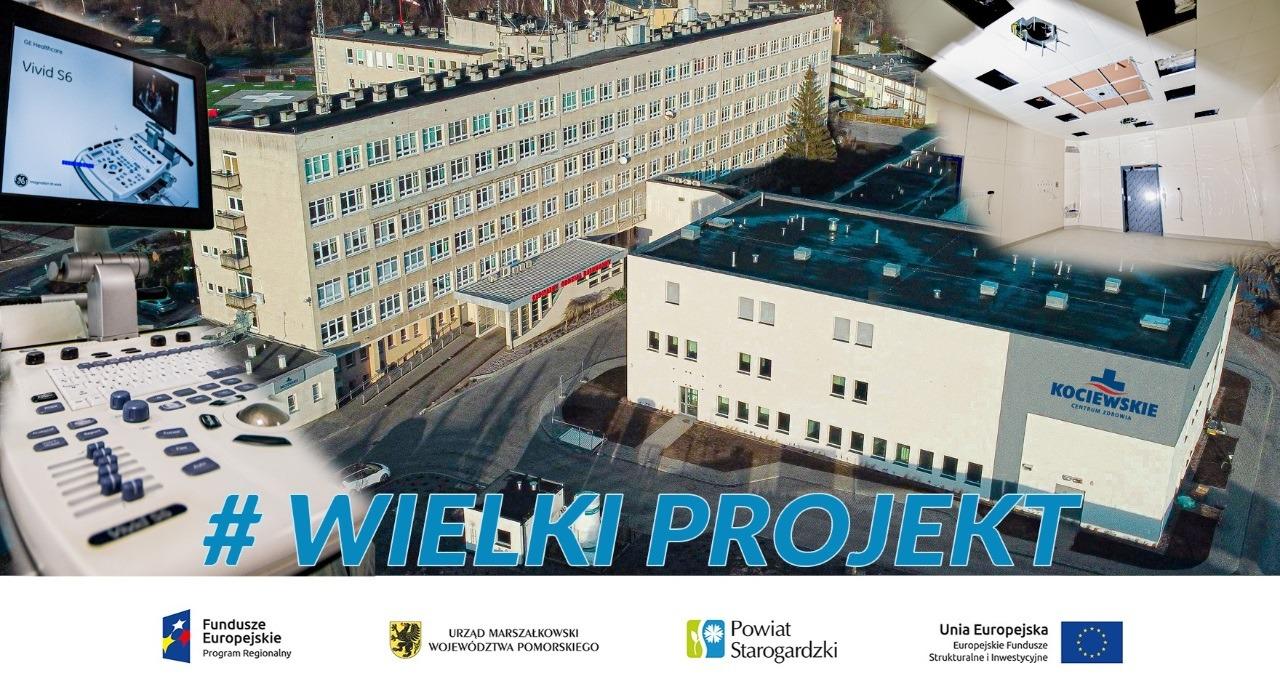 Grafika dekoracyjna #wielkiprojekt zawiera zdjęcia centrum zdrowie i sprzętu medycznego