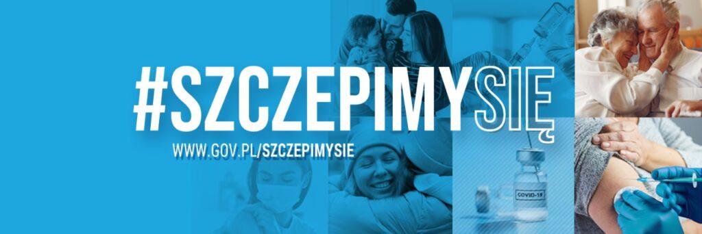 Grafika dekoracyjna #szczepimysię gov.pl/szczepimysie